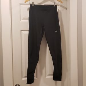 NIKE Dri-Fit Pants with Side Zipper and Reflector
